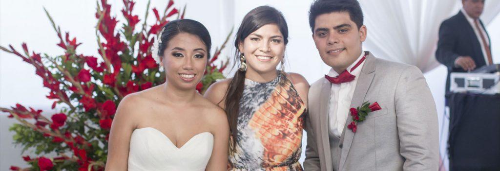 Cecilia y Luis en su boda.
