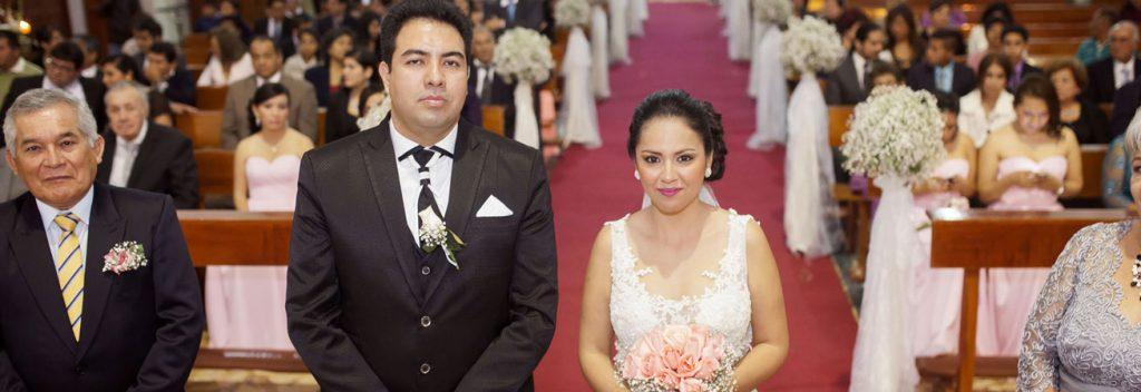 La ceremonia matrimonial de Ada y Juan Carlos.
